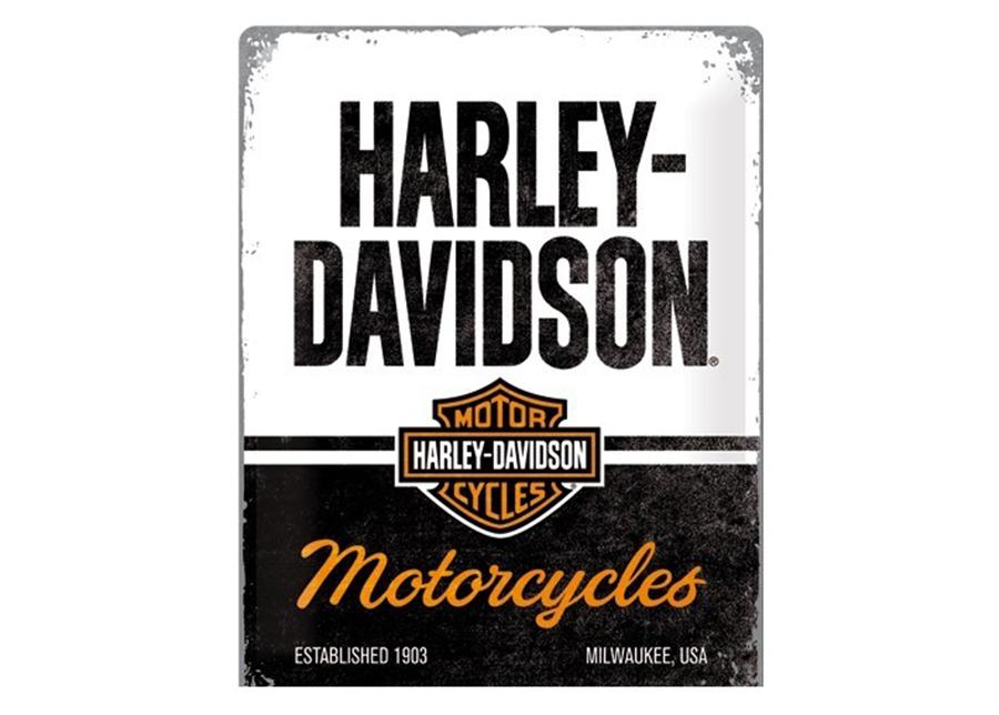 Retrotyylinen metallijuliste Harley-Davidson - Motorcycles 30x40 cm
