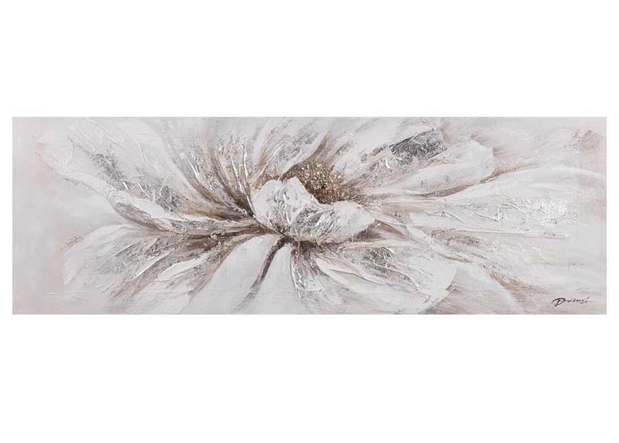 Öljymaalaus Valkoinen kukka 50x150 cm