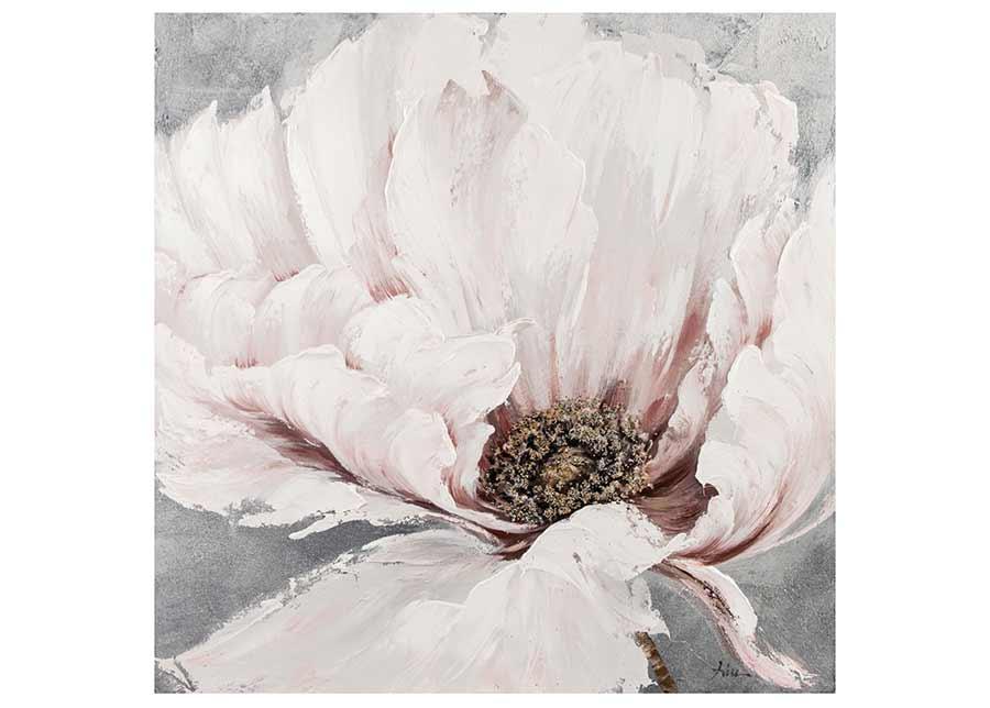 Öljymaalaus Valkoiset kukat 100x100 cm
