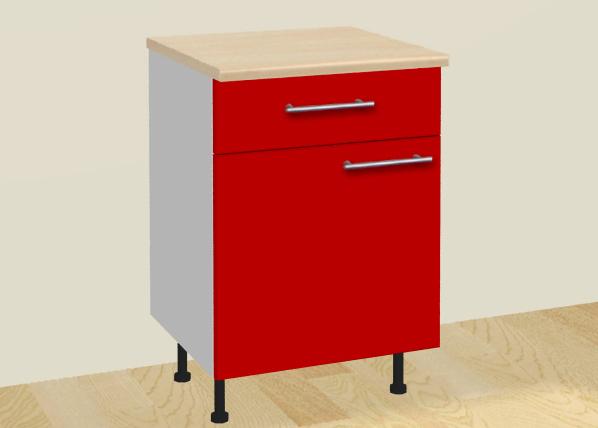 Baltest keittiökaappi ovella ja laatikolla 30 cm