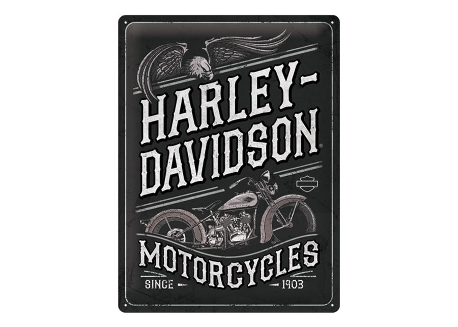 Retro metallijuliste Harley-Davidson - Motorcycles Eagle 30x40 cm