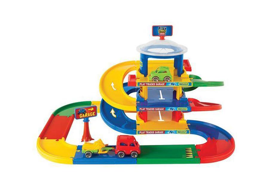 Kid Cars 3D kolmekerroksinen autotalli