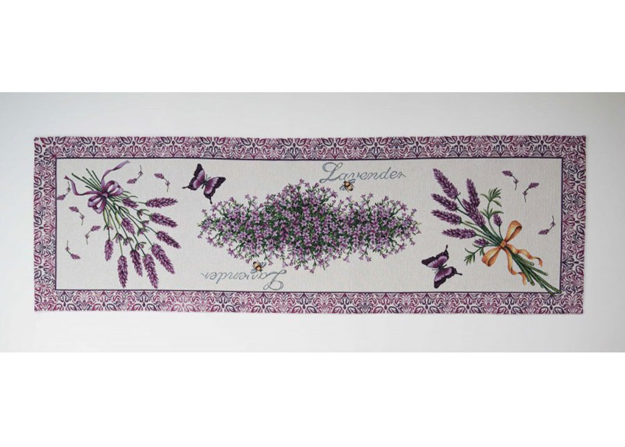 Gobeliinikankainen kaitaliina Violet Lavender 45x138 cm