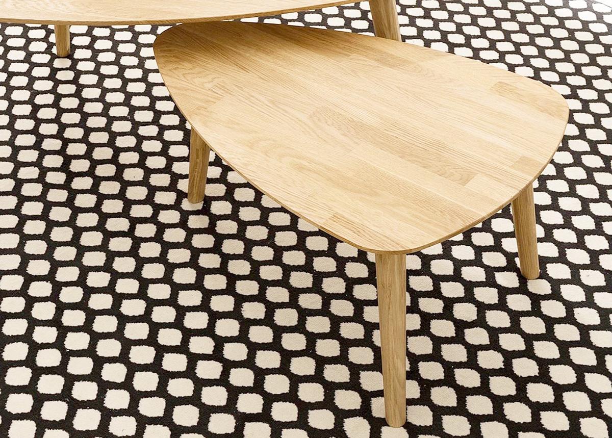 Tammi sohvapöytä Scan 70x50 cm, valkoinen öljy