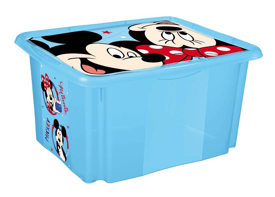 Kannellinen säilytyslaatikko Mickey 45 L