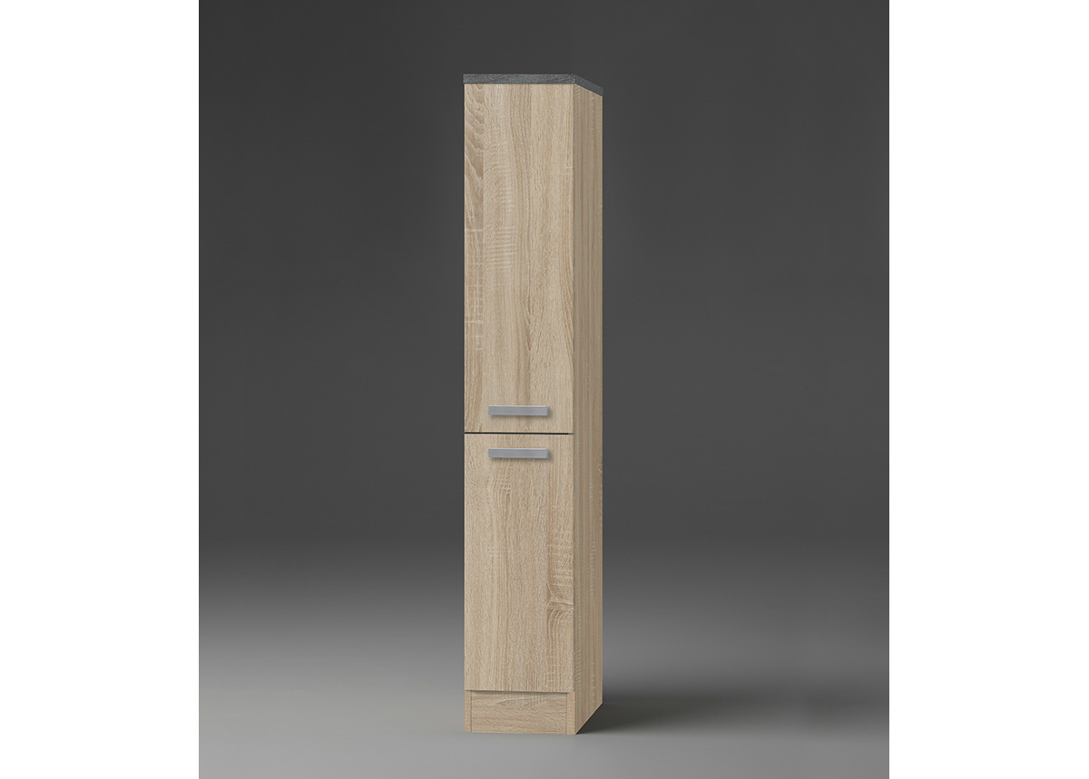 Puolikorkea ulosvedettävä keittiönkaappi Neapel 30 cm