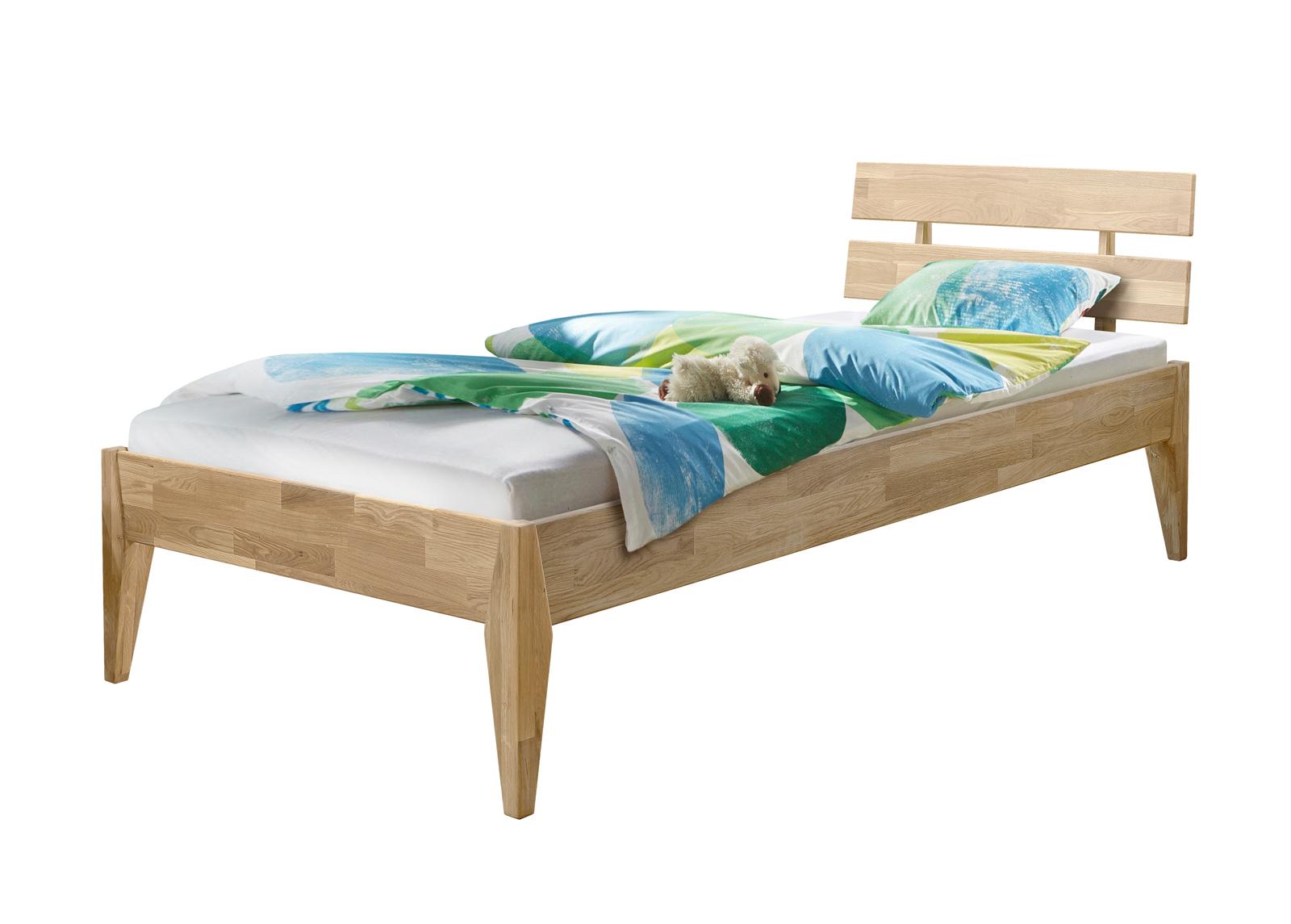 Tammi sänky Elke 90x200 cm, valkoinen öljy