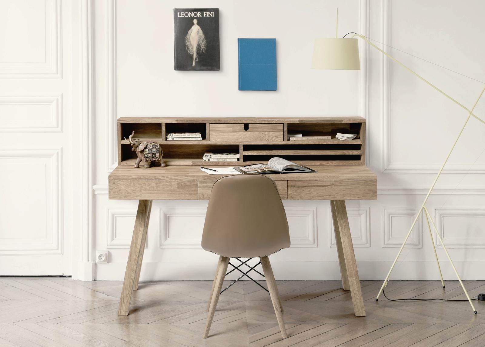 Tammi työpöytä Modern2, valkoinen öljy