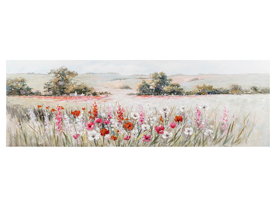 Öljymaalaus Unikkopelto 50x150 cm