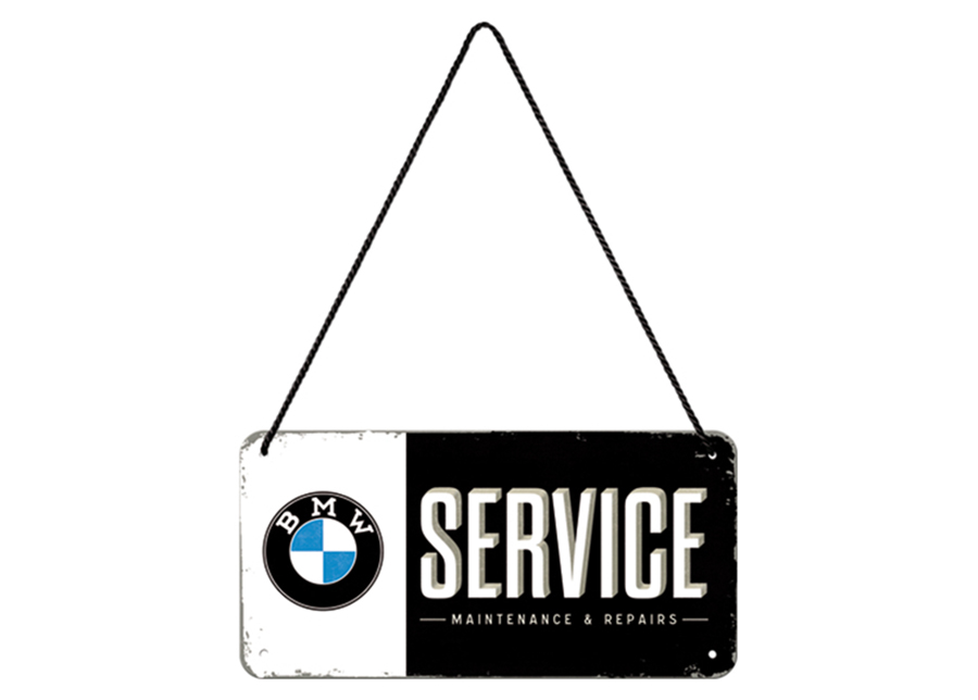 Retro metallitaulu BMW Service 10x20 cm