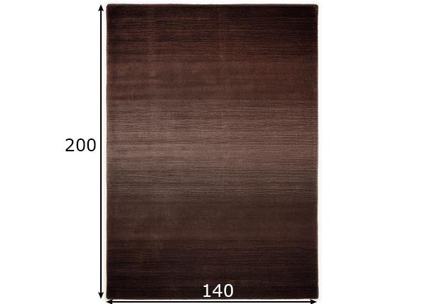 Villamatto Wool Comfort 140x200 cm, suklaa