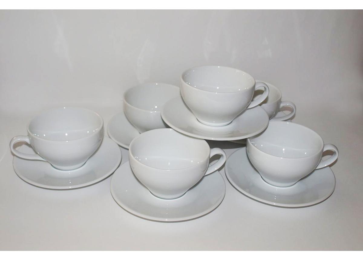 Kahvikupit ja aluslautaset PAULA, 6 kpl