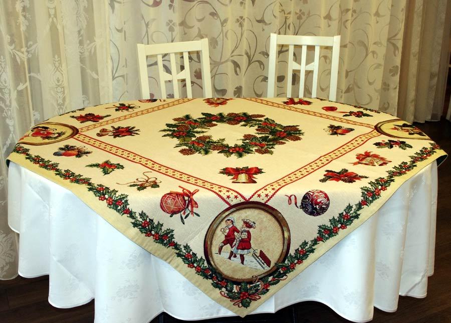 Gobeliini joululiina HOLLY 100x100 cm
