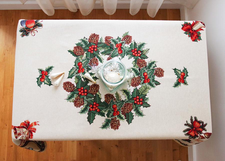 Gobeliini joululiina Holly 140x180 cm