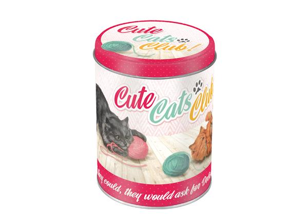 Peltipurkki CUTE CATS CLUB 1 L