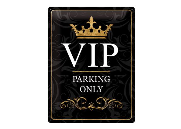 Retrotyylinen metallijuliste VIP PARKING ONLY 30x40 cm