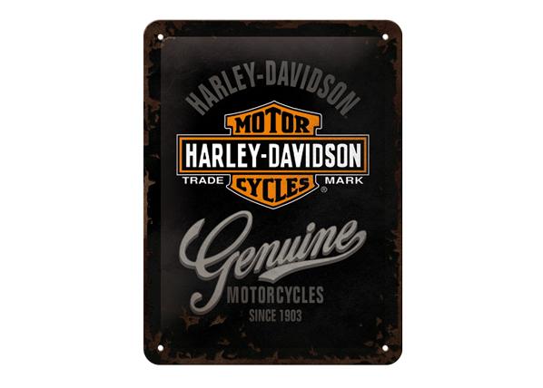 Retro metallijuliste Harley-Davidson Motorcycles 15x20 cm