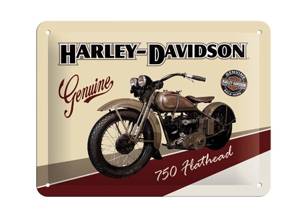 Retro metallijuliste Harley-Davidson 750 Flathead 20x15cm