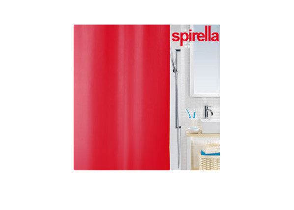 Suihkuverho SPIRELLA PRIMO punainen tekstiili