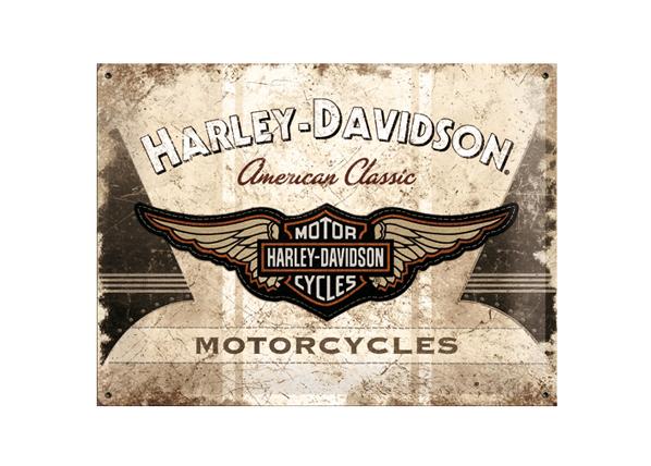 Retro metallijuliste Harley-Davidson Motorcycles 30x40cm