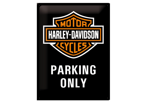 Retro metallijuliste Harley-Davidson Parking Only 30x40 cm