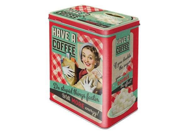 Peltipurkki HAVE A COFFEE 3 L