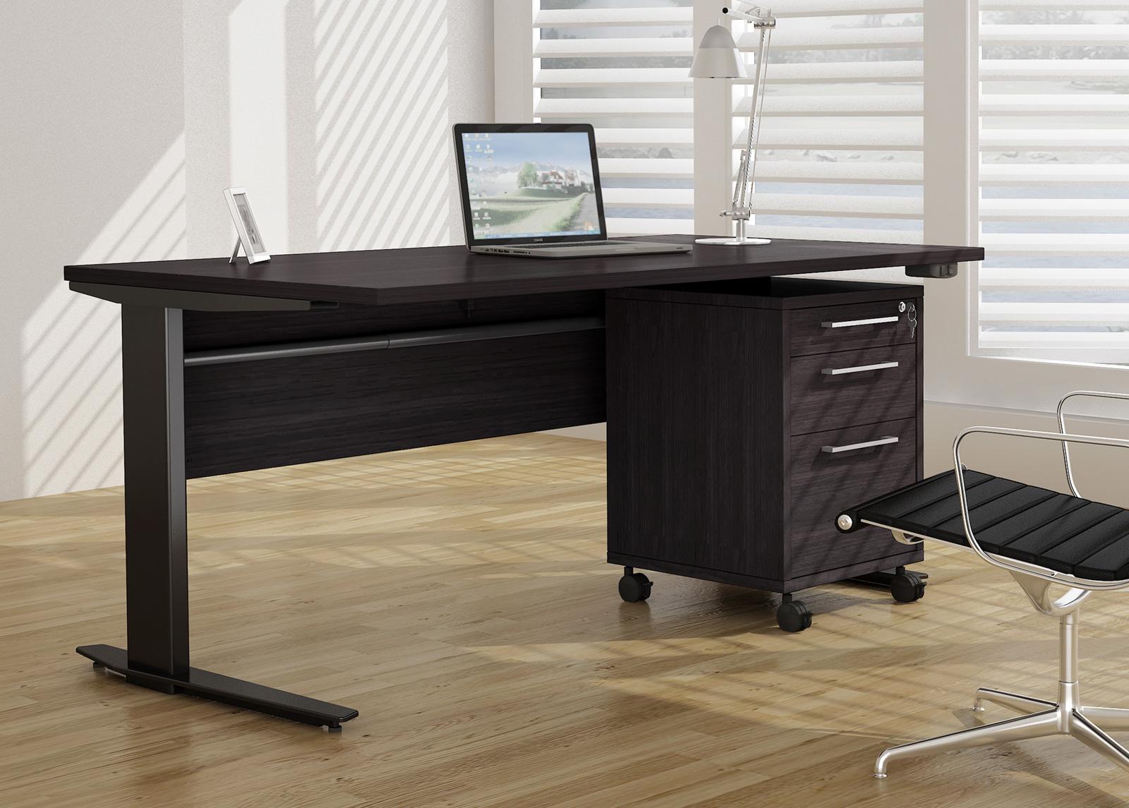 Työpöytä+laatikosto PRIMA sähkö korkeudensäädöllä