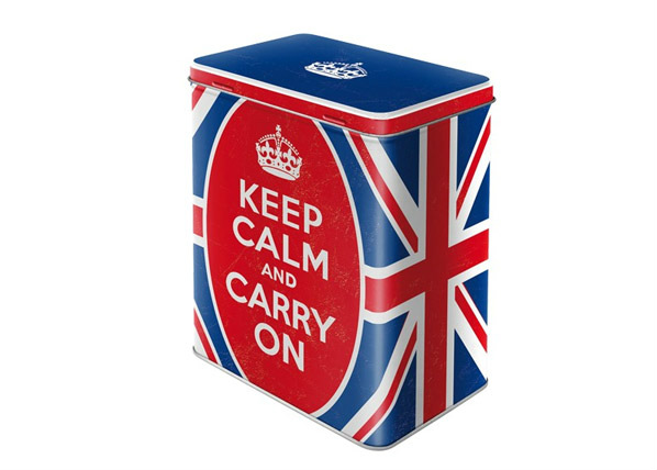 Peltipurkki KEEP CALM AND CARRY ON 3 L