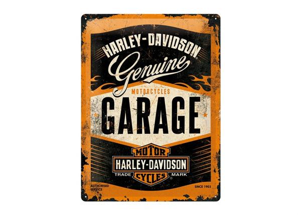 Retro metallijuliste Harley-Davidson Garage 30x40 cm
