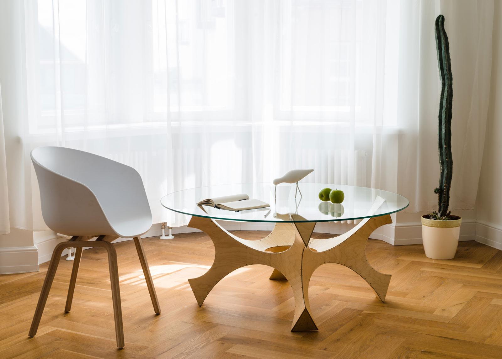 Sohvapöytä / ruokapöytä NEMO Ø 100 cm