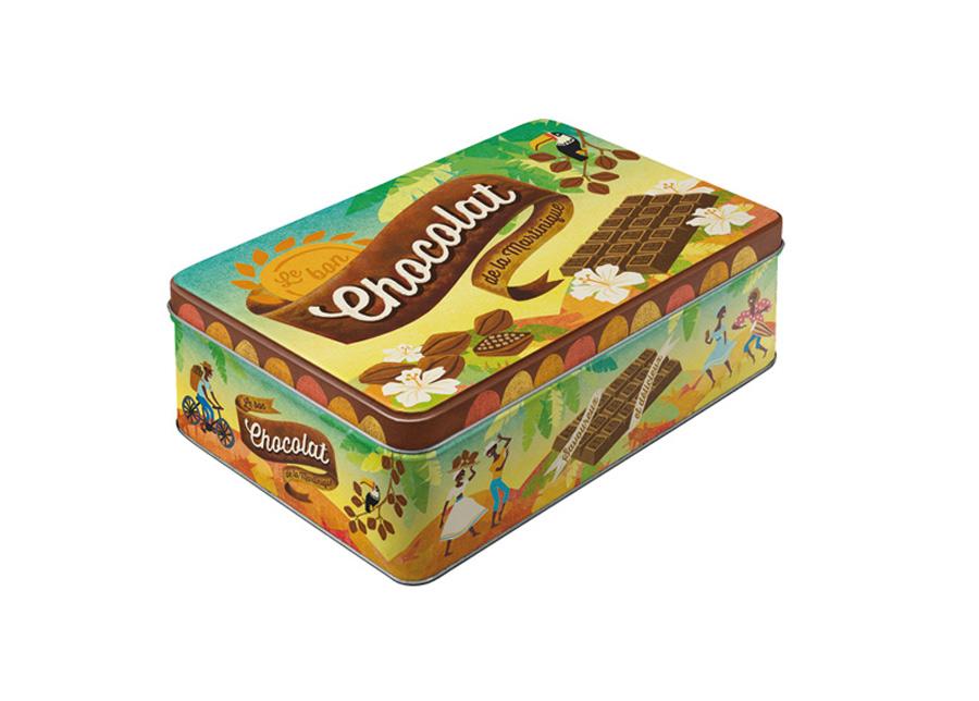 Peltipurkki CHOCOLAT 2,5 L