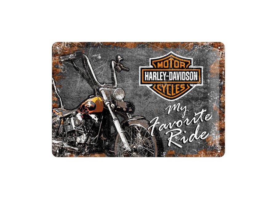 Retro metallijuliste Harley-Davidson My Favorite Ride 20x30cm