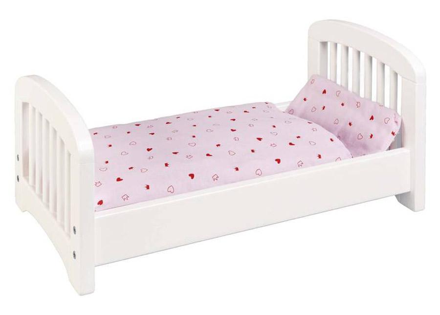 Puinen nuken sänky