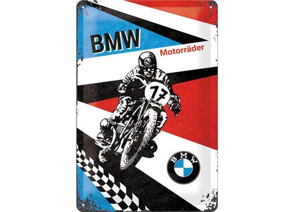 Retro metallijuliste BMW Motorräder 20x30 cm