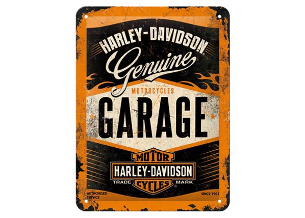 Retro metallijuliste Harley-Davidson Garage15x20 cm