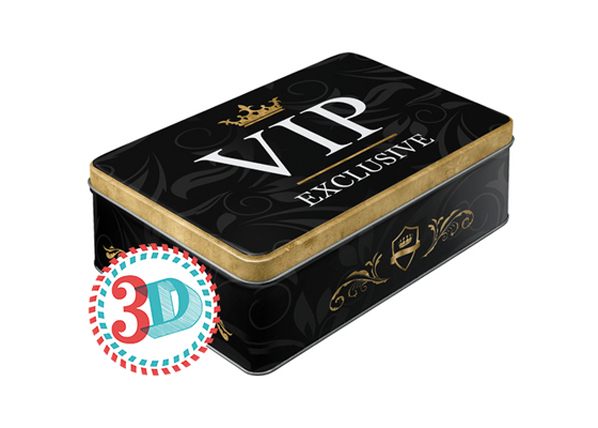Peltipurkki #D VIP EXLUSIVE 2,5 L