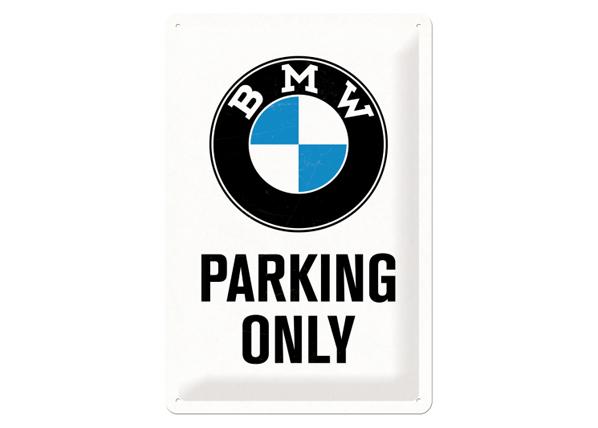 Retro metallijuliste BMW PARKING ONLY 20x30 cm