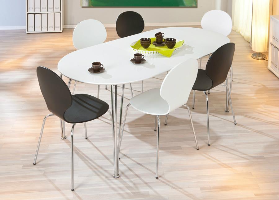 Jatkettava ruokapöytä OVALI 90x140-180 cm