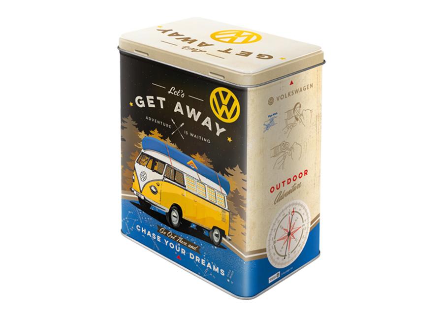 Peltipurkki 3D VW Bulli Let's Get Away 3 L