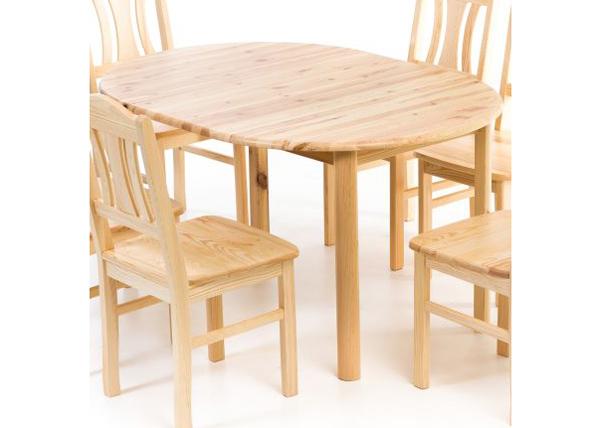 Jatkettava ruokapöytä, mänty 100x100-140 cm