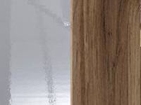 kiiltävä valkoinen/ tammi