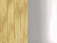 Светлая древесина / серебро