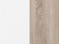 valkoinen kiiltävä / tammi Sonoma